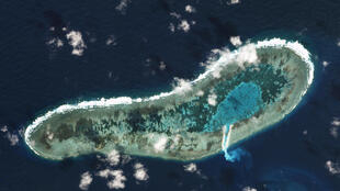 Thực thể Đá Lát (Ladd Reef) hiện do Việt Nam chiếm giữ thuộc quần đảo Trường Sa, Biển Đông. Ảnh chụp ngày 30/11/2016