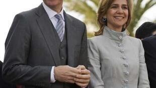 A Infanta Cristina ao lado de seu marido, Iñaki Urdangarin, em foto de 11 janeiro de 2011.
