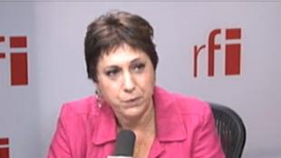 Bernadette Groison, leader of the FSU union