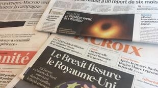 Primeiras páginas dos jornais de 11 de Abril de 2019.