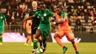 Le Sénégalais Sadio Mané lors d'un match amical du Sénégal face à la Côte d'Ivoire le 27 mars 2017 au stade Charléty à Paris.