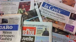 Primeiras páginas diários franceses 30/1/2013
