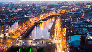Vue de Dublin, capitale de l'Irlande.