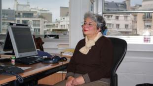 فرنگیس حبیبی در آخرین روز کار خود در رادیو بین المللی فرانسه