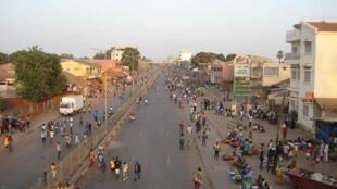 Vista parcial de Bissau ( imagem de ilustração)