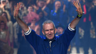 French designer Jean Paul Gaultier says goodbye after his final fashion show in Paris, 22 January 2020.