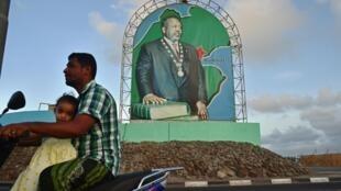 Le président de Djibouti, Ismaïl Omar Guelleh, sur une affiche.