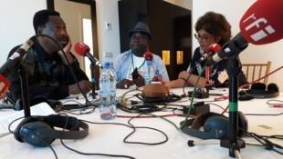 Nathalie Amar en compagnie de Jean Baptiste Williams et Justin Morel Junior.
