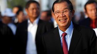 Ảnh minh họa : Thủ tướng Cam Bốt Hun Sen. Ảnh chụp tại Phnom Penh ngày 07/01/2018.