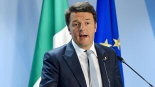 O primeiro ministro italiano, Matteo Renzi.