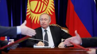 Президент РФ Владимир Путин в Бишкеке, 28 марта 2019