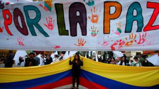 O presidente da Colômbia sublinhou a urgência de aplicar este acordo.