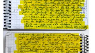 Las anotaciones de los 8 cuadernos fueron hechas públicas por el diario La Nación de Argentina. Contiene información sobre supuesto pago de coimas para adquirir contratos públicos.