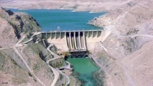 سد سلما در ولایت هرات که با همکاری هند ساخته شده است
