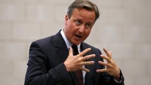 David Cameron, le Premier ministre britannique, lors d'une conférence de presse le 2 septembre.
