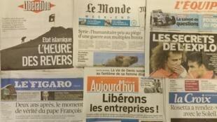 Primeiras páginas diários franceses 13/03/2015