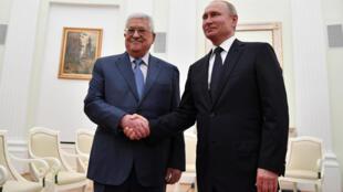 លោក Mahmoud Abbas និង លោក Vladimir Putin ជួបគ្នានៅម៉ូស្កូ ថ្ងៃសៅរ៍ ទី១៤កក្កដា