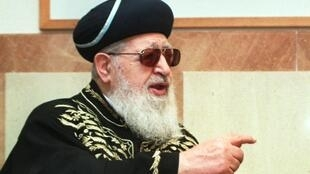 Le rabbin Ovadia Yossef.