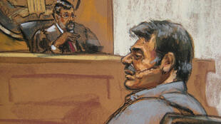 A courtroom sketch of the alleged would-be assassin Manssor Arbabsiar