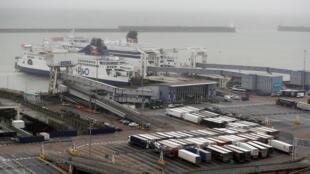 Ảnh minh họa: Cảng Dover ở Anh Quốc trong ngày Brexit 31/01/2020.