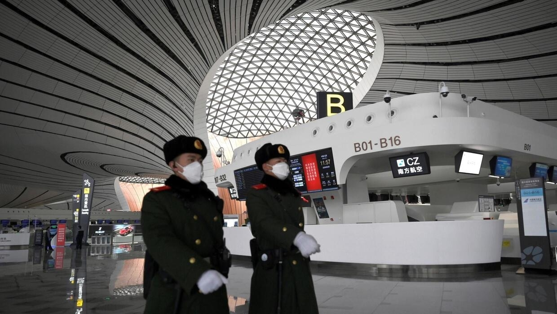 À l'aéroport de Daxing, près de Pékin, le 20 février 2020 (image d'illustration).