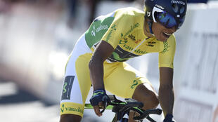 Nairo Quintana en la cuarta etapa del Tour de Romandía, este 29 de abril de 2016.