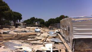 Le village d'Abu Nowar, où des infrastructures humanitaires de l'UE ont été détruites par Israël.