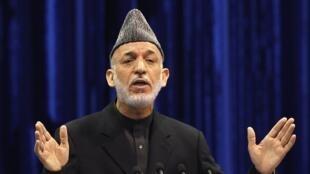 El presidente afgano, Hamid Karzai.