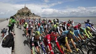 The 2016 Tour de France started from Mont Saint-Michel on Saturday