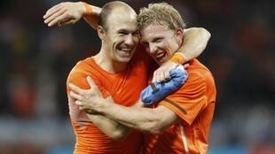 Arjen Robben et Dirk Kuyt disputeront la finale de la Coupe du monde 2010 avec les Pays-Bas.