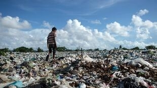 Landfill site in Dala, Myanmar