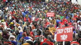 Des membres de la communauté peule se sont réunis à Bamako le 26 janvier 2019 pour protester contre les attaques.