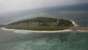 L'Ile Thitu faisant partie de l'archipel disputé des Spratleys.