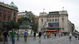 La place de la République à Belgrade.