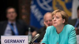 Ангела Меркель на саммите «большой двадцатки» в Китае, 4 сентября 2016.