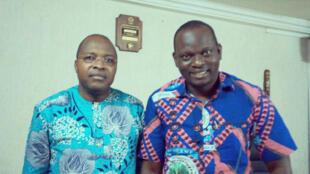 Antoine Bonou, coordonnateur général de Wémèxwé et Moucharaf Sadikou, président du Club RFI  Cotonou.