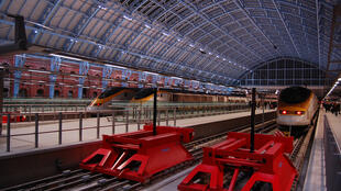 Eurostar trains at London's Saint Pancras International station. The high-speed trains will bring passengers from London to Lyon, Avignon and Marseille.