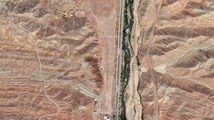 Военная база Паршин в Иране, вид со спутника, 22 августа 2012 года