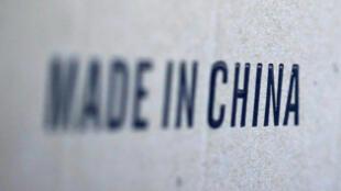Thêm 200 tỷ đô la hàng nhập vào Mỹ phải chịu mức thuế quan 10%. Ảnh minh họa: Dòng chữ chụp trên một kiện hàng nhập từ Trung Quốc.