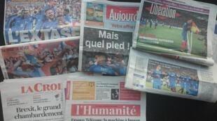 O futebol foi a tónica das manchetes de hoje