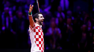 Marin Cilic won both of his singles matches during Croatia's 3-1 victory over France to claim the 2018 Davis Cup.