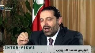 Firaministan Lebanon mai marabus Sa'ad Hariri.