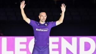La nouvelle recrue de la Fiorentina, Frank Ribéry, a été présenté aux supporters