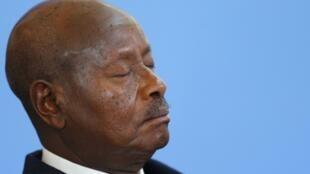 Uganda's President Yoweri Museveni at the Somalia conference in London, 7 May, 2013