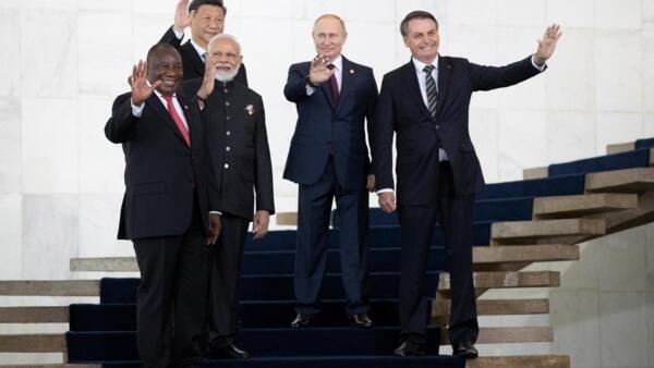 Lãnh đạo Brazil, Nga, Ấn Độ, Trung Quốc và Nam Phi họp thượng đỉnh khối BRICS lần thứ 11 tại Brazil. Ảnh ngày 14/11/2019.