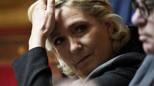 Rassemblement National leader Marine Le Pen in the French National Assembly in June