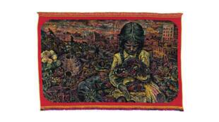 « La Pythie face aux signes », une tapisserie de Stéphane Blanquet