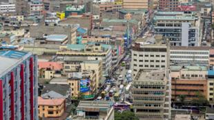 Vue générale de Nairobi, la capitale du Kenya, le 15 mai 2017.