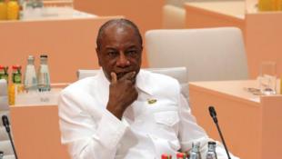 Alpha Condé, chefe de Estado da Guiné Conacri, presidente em exercício da União Africana.