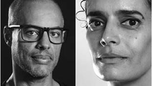 Artista visual cabo-verdiano César Schofield Cardoso e a arquitecta Patti Anahory